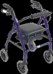 Andador com quatro rodas para fraturas do fêmur e doenças no quadril