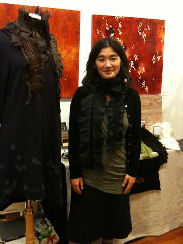Beautiful Hitoko and her textile art