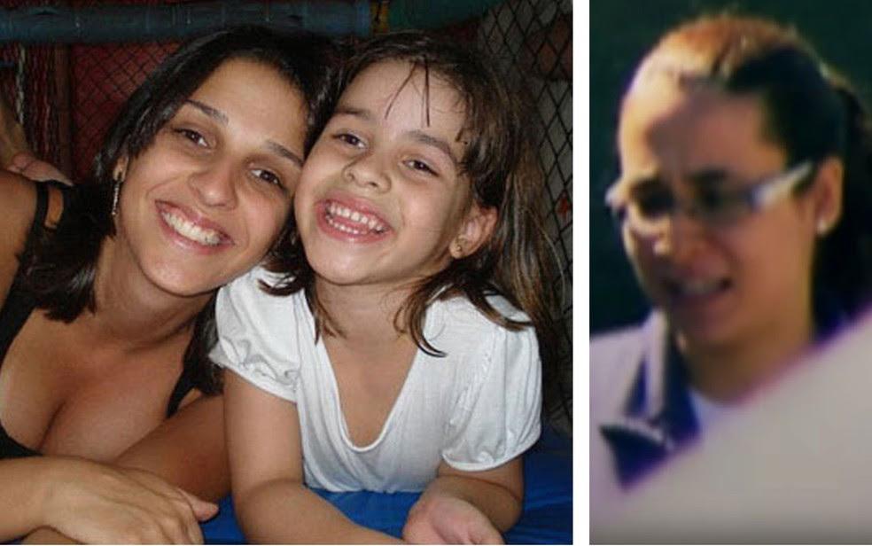 Ana Carolina Oliveira e a filha Isabella Nardoni; ao lado, Anna Carolina Jatobá, presa e condenada por assassinar a enteada em 2008 (Foto: Reprodução/Arquivo Pessoal/TV Globo)