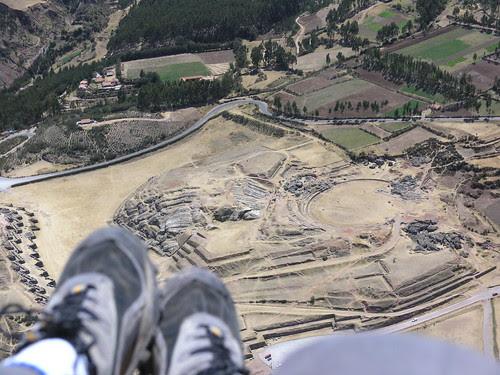 Flying into Sacsayuaman Ruins