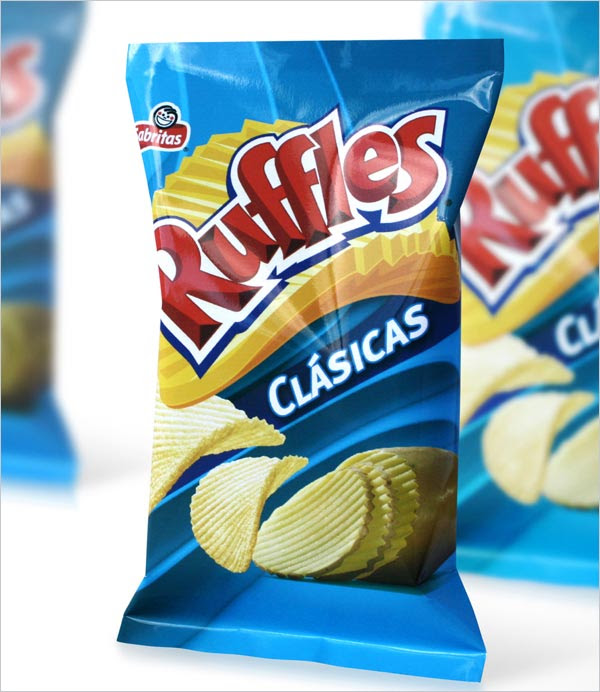 Ruffles Classic Chips Packaging 1 30+ Crispy Potato Chips Packaging Design Ideas