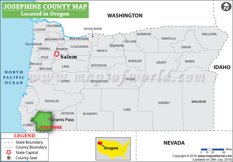 Josephine County Map Oregon