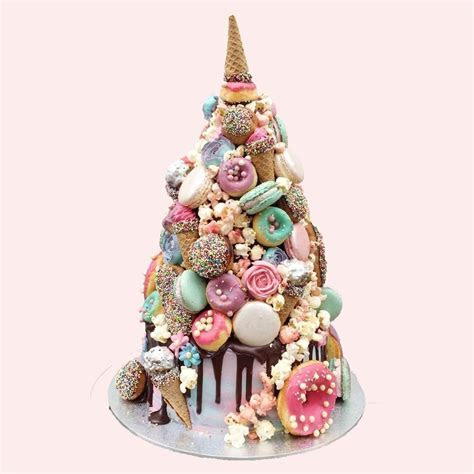 This Unicorn Croquembouche Wedding Cake Is Positively
