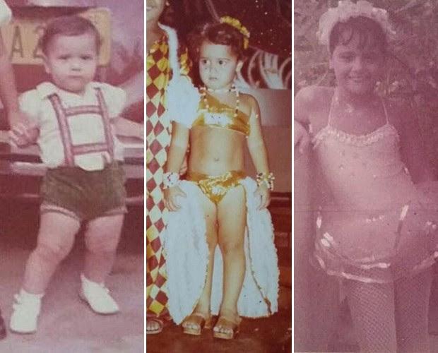 Veja mais fotos da atriz quando pequena! (Foto: TV Globo)