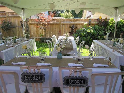 small backyard wedding   backyard wedding