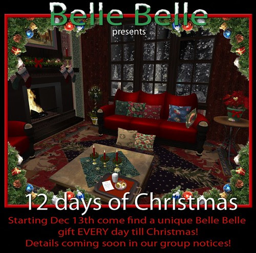 Belle Belle 12 Days of Christmas