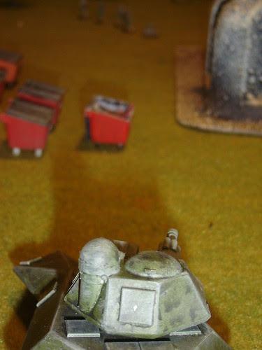 Tank advances
