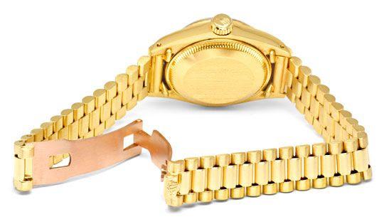 Foto 5, Damen Diamant Gold Rolex Oyster Perpetual Date, Geprüft, U1366