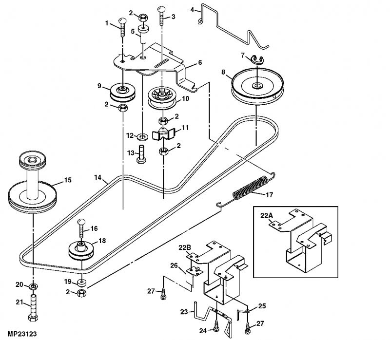 John Deere L100 Mower Parts Diagram - Best Place to Find ...