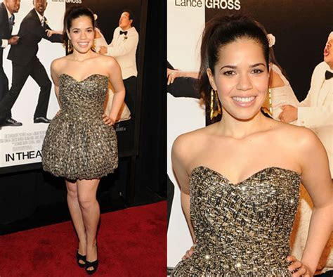 America Ferrera Attends NYC Premiere of Our Family Wedding