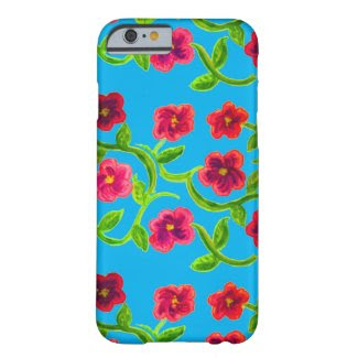 Petunia Flower Design on Sky Background Barely There iPhone 6 Case