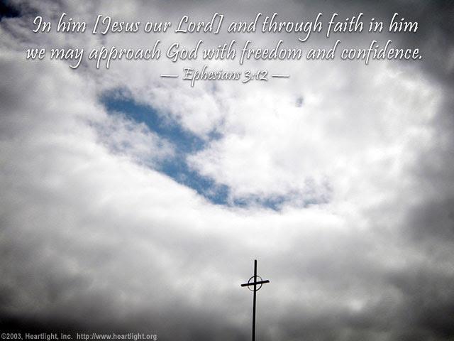 Inspirational illustration of Ephesians 3:12