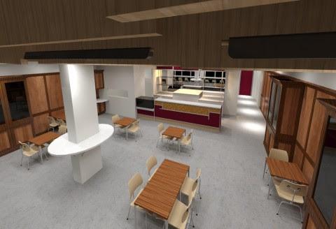 Coffee shop interior design on coffee shop interior design