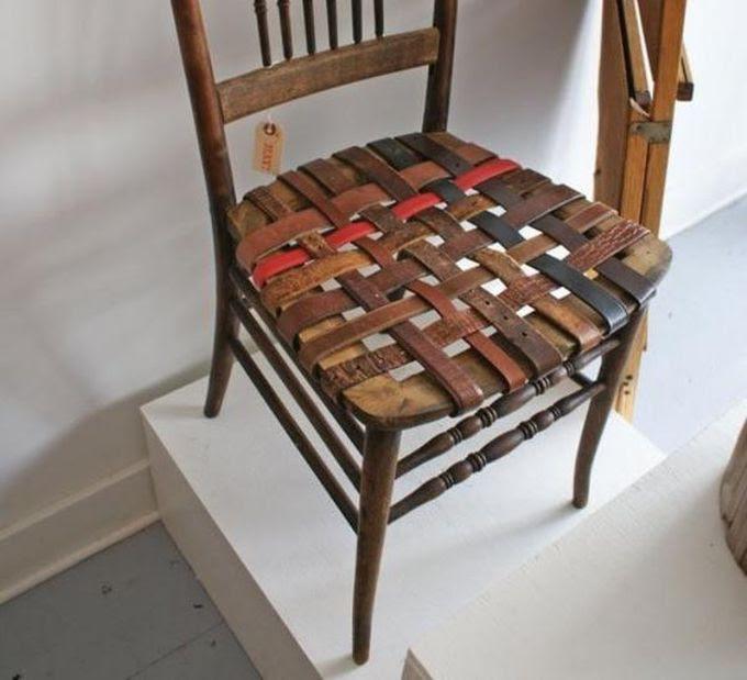 13. Перетяжка сиденья ремнями креатив, переделка, своими руками