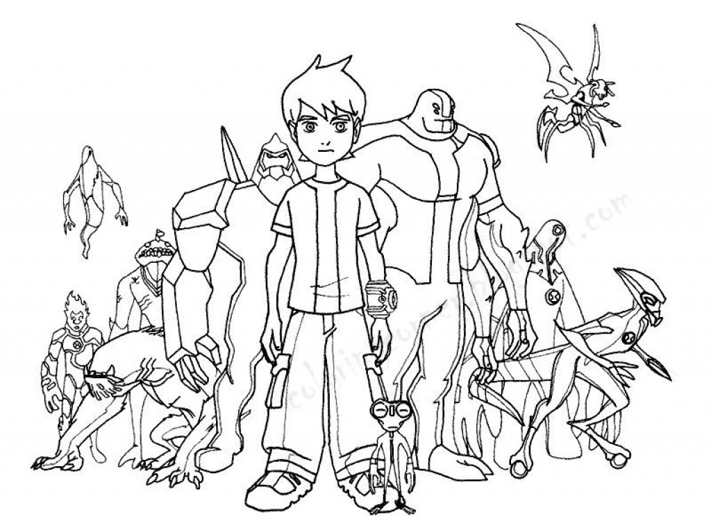 Ben 10 Coloring Pages at GetDrawings | Free download