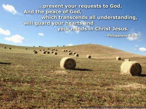 Inspirational illustration of Philippians 4:6-7