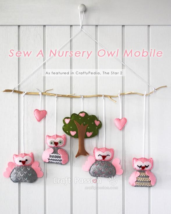 Sew A Nursey Owl Mobile
