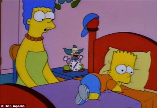I teorici della cospirazione hanno sottolineato queste clip in I Simpson per la sua apparente capacità di prevedere la crisi Ebola, che ora rischia di diventare una pandemia come gli Stati Uniti registra la sua prima vittima.