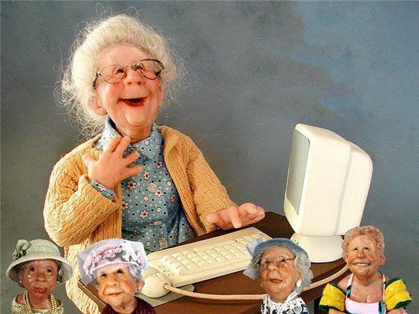 svetlanaanto: Жизнерадостные старички и старушки от Annie Wahl
