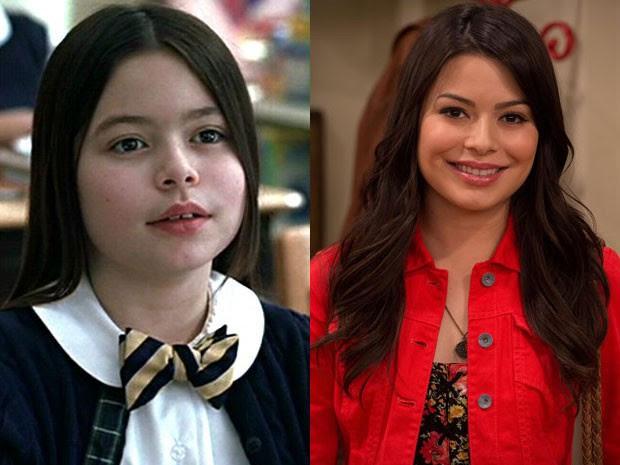 Miranda Cosgrove em 'Escola de rock' e em 'iCarly' (Foto: Divulgação)