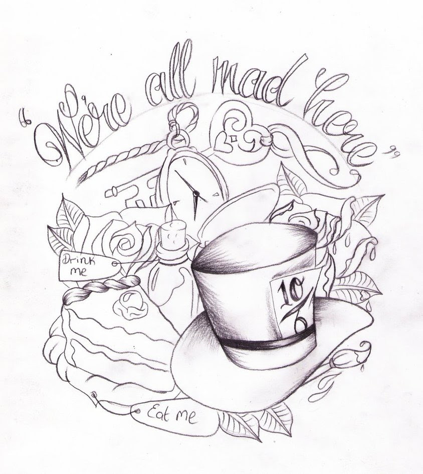 Alice In Wonderland Key Drawing At Getdrawingscom Free For