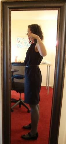 Burda Style 7253 view A done (after wearing at work all day)