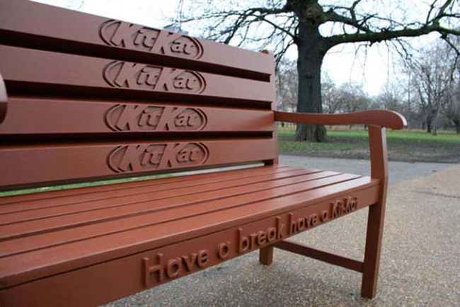 24.) If only the bench was made of chocolate.