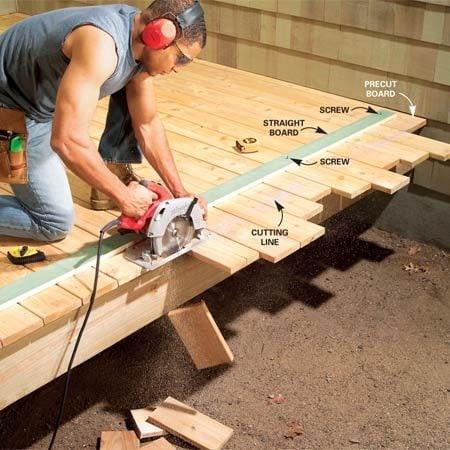 Trimming Deck Boards Al Munawar