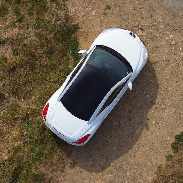 Peugeot RCZ from the sky