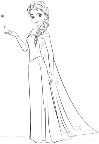 7200 Coloring Pages Printable Elsa For Free