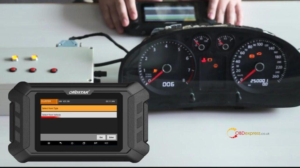 Obdstar Odo Mästare VW Passat vägmätare Correction 06