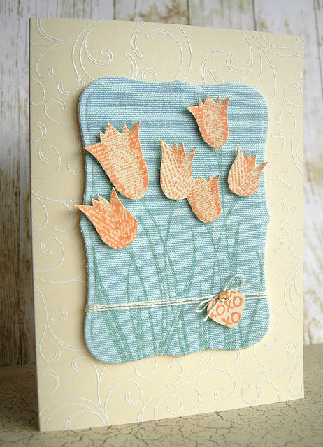 Tulips Blog Hop Card
