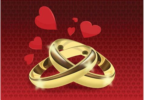 Wedding Rings Vector   Download Free Vector Art, Stock