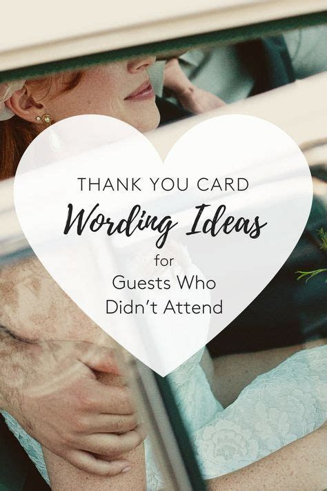 5 Thank You Card Wording Ideas for Guests Who Didn't