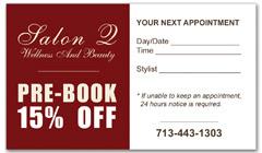 CPS-1002 - salon coupon card