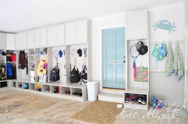 Garage Makeover with tons of storage