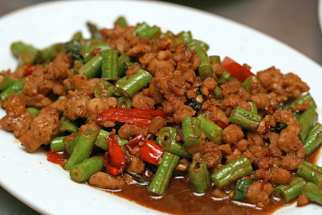 Ka Pao Moo (S$10) - Stir Fried Pork with Basil