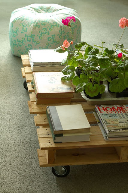 recycled coffe table idea