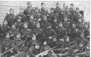 Ελληνες στρατιώτες που πήραν μέρος στην εκστρατεία κατά της νεαρής τότε σοβιετικής εξουσίας.