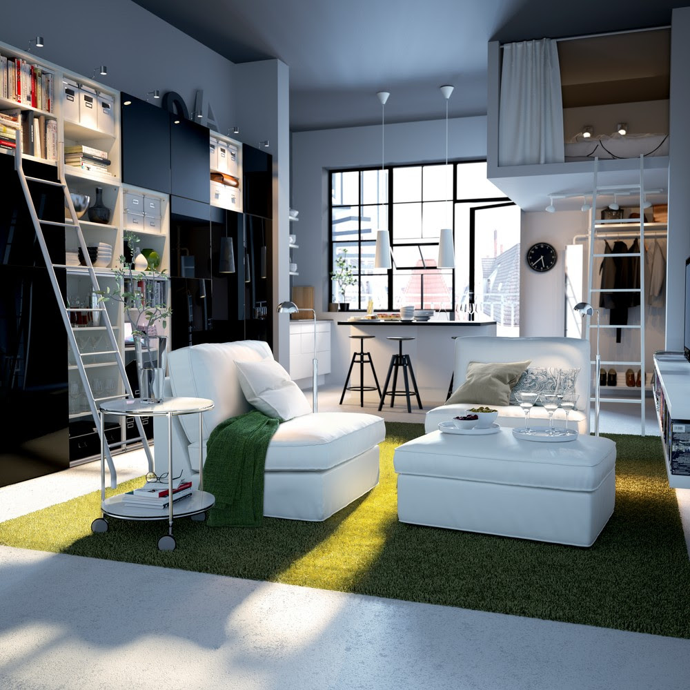 small one room apartment interior design