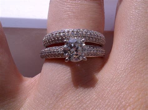 Engagement Ring & Wedding Band. Which way to wear it