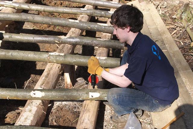 DSC_3738 Building a log bridge