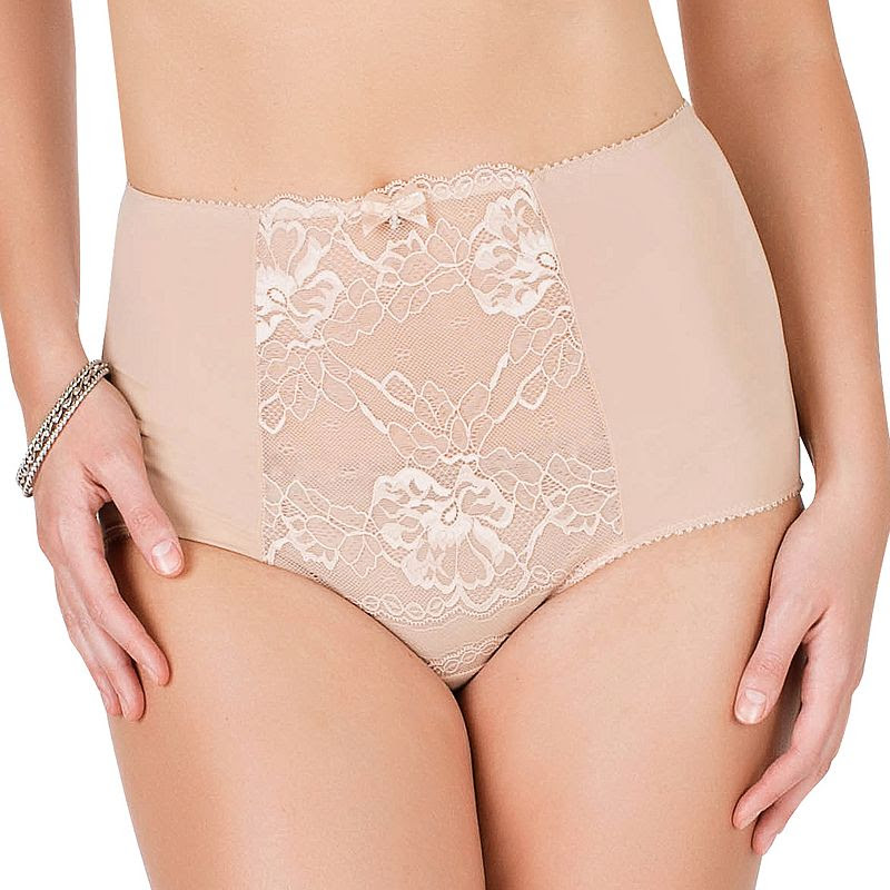 Parfait by Affinitas Sophia Lace High-Waist Brief 7451, Women's, Size: XS, Dark Beige