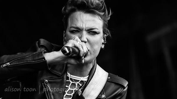 Lzzy Hale, vocals, Halestorm