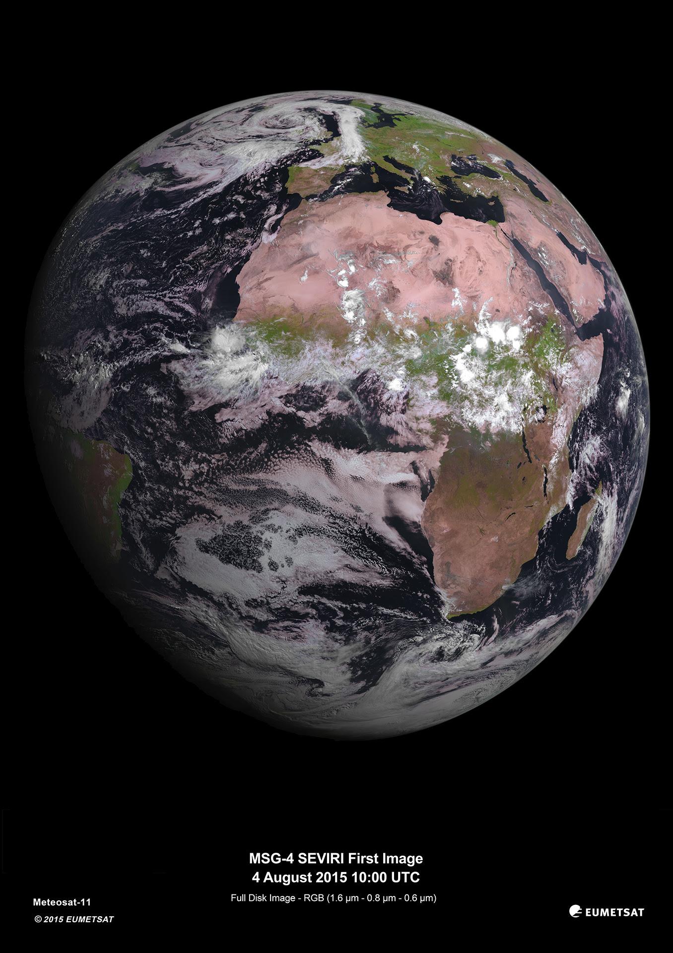 MSG-4: A new European weather satellite.