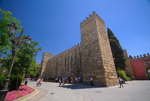 Alcázar desde la Plaza del Triunfo