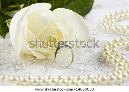 stock photo Nice wedding background wedding dress fabric with pearls