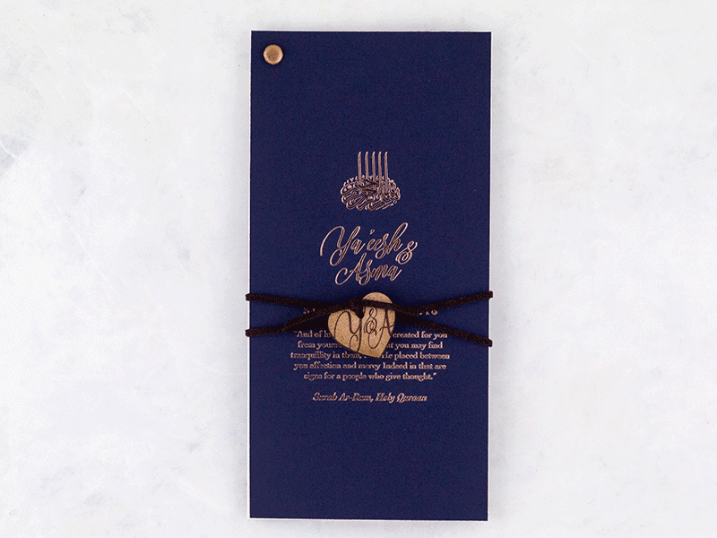 K'Mich Weddings - wedding planning - Tanzanite Invitation - Secret Diary
