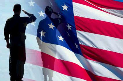 Flag Salute Silhouette