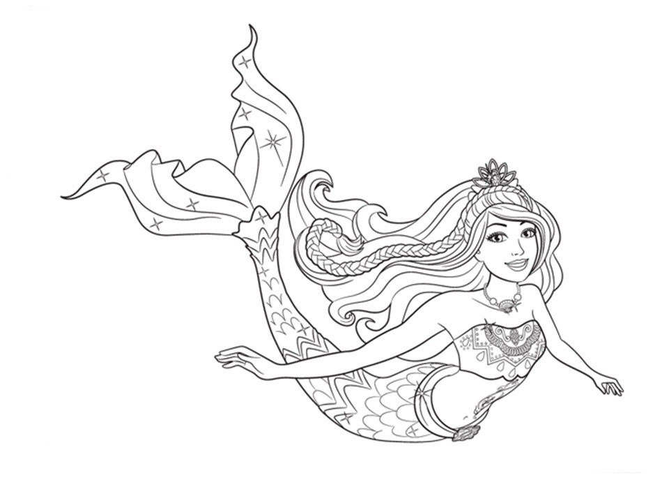 Dibujos De Barbie Sirena Para Colorear Az Dibujos Para Colorear